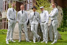 The groomsmen. Vintage style!