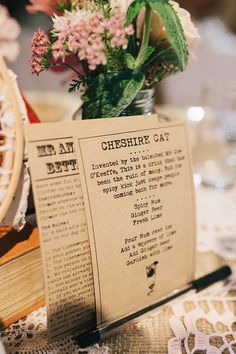 A 1920s and 1930s Antique and Old Fashioned Vintage Inspired Barn Wedding - using a particular font/type face can help to evoke the style/theme/era of your event or wedding - this one is perfect for a vintage theme