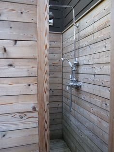cedar outdoor shower