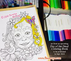 Owl Sugar Skull Coloring Page From Thaneeya McArdles Day Of The