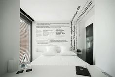 Great Quotes in one room of the Design & Wine Hotel, Caminha, Portugal / design-wine-hotel