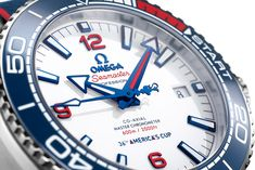 Omega, New America's Cup Timekeeper, Celebrates with Seamaster Planet Ocean Limited Edition Omega Planet Ocean, Omega Seamaster Planet Ocean, Sport Watches, Cool Watches, Watches For Men, Wrist Watches, Sports Trophies, Omega Seamaster Professional, Limited Edition Watches