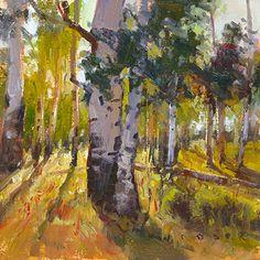 Aspen Light by Jim Wodark Oil ~ 8 x 8