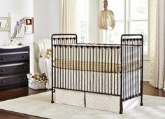The Baby's dream furniture Willa Convertible Crib is timeless in its beauty. This gorgeous crib with its round spindles and ball feet is perfect in any nursery. The Willa crib converts from a crib to a toddler/youth bed with the included guard rail. Dream Furniture, Nursery Furniture, Kids Furniture, Iron Crib, Best Crib, Convertible Crib, Nursery Design, Baby Cribs, Baby Decor