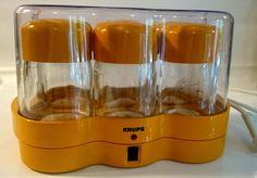 Krups Joghurette Joghurtbereiter L electronic Typ 237 Designklassiker Orange 1970s Selbstversorger Weihnachtsgeschenk Foodie Helathy living von VintageLoppisStyle auf Etsy