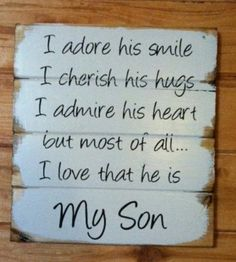 How is it possible that out of all the LITTLE BOYS in the whole world we got the best one, hand-painted wood sign, signs for boys, boys room The Words, I Love My Son, Love You, To My Son, Mothers Love For Her Son, Love My Family, You Are My Moon, Sign I, Family Quotes