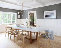 Sophie Burke Design - wonderful dining room table and chandelier