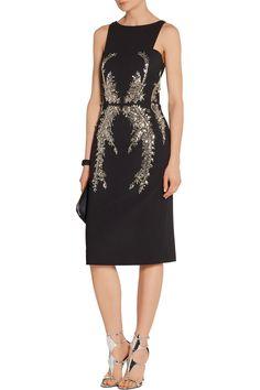 Antonio Berardi Embellished crepe dress.