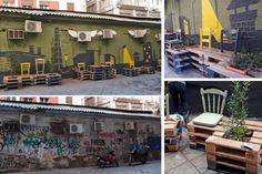 Street art transformation with salvage materials!