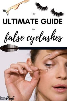 False Eyelashes, AKA falsies or fake lashes, can be intimidating for beginners. Learn everything you need to know in our ultimate guide to false eyelashes! False Eyelashes Tips, Applying False Eyelashes, Natural Eyelashes, Fake Lashes, Lily Lashes, Mink Eyelashes, Basic Makeup, Makeup Tips, Eye Makeup