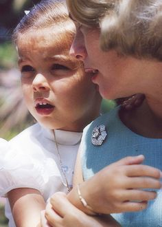Princess Grace and Princess Caroline, 1963.