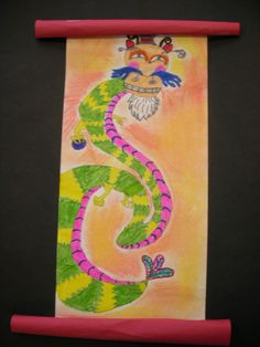 The Elementary Art Room!: Dragons  Chinese scrolls- 4th grade