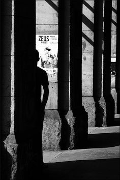 Shadow between the Pillars, Black and White photo, by zeus optymist.