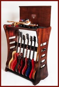 Guitar stand, display, and on-board maintenance platform.