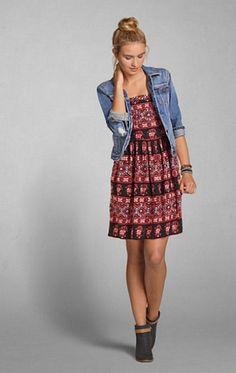 Love dress &denim really tops it off