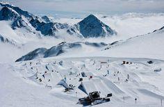 Skiing at Austria's Stubai Glacier