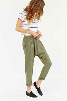 BDG Porter Slouchy Ankle Pant - Urban Outfitters