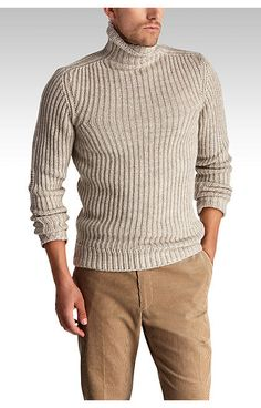 Buy a Greenwich Tobacco Turtleneck Sweater and other Sweaters at Joseph Abboud…