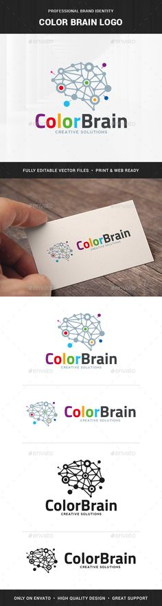 Color Brain Logo Template — Transparent PNG #dots #color • Available here → https://graphicriver.net/item/color-brain-logo-template/17098934?ref=pxcr
