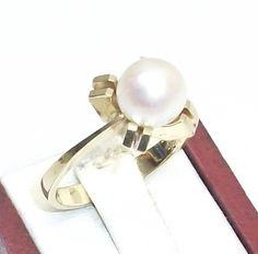 Vintage Ringe - 585er Goldring mit Süßwasserperle 17,6 mm GR101 - ein…