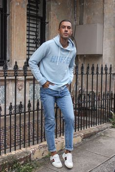 Mens Fashion Style & Outfit inspo by Blogger MR TURNER. New Zealand brand Huffer, with Assembly Label jeans.