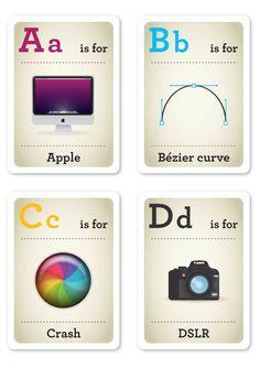 Design Nerds Flash Cards, l'abécédaire du design nerd pour les enfants