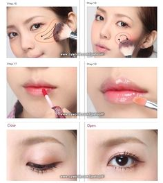 "**~Zibees.com~** Fashion Guilt DIY/Tips!!: ""Girl Next Door"" Korean Makeup Tutorial Picture DIY How to"