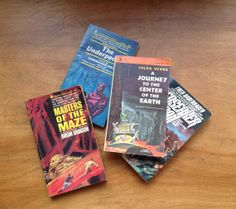 Vintage Collection of 60s Sci Fi Paperbacks Set of 4 A by modluv, $20.00