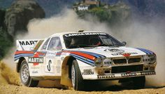 Lancia 037 Rally  Champion in Madeira Island  with Miki Biasion