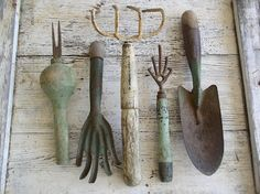 Vintage Garden Tools ~ great for decorating for spring & summer!