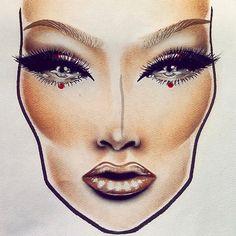 tanja gravina @tanjagravinamakeup New facechart:) H...Instagram photo   Websta (Webstagram)