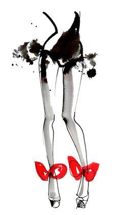 Lovisa Burfitt : Agent & Artists, fashion art red bows