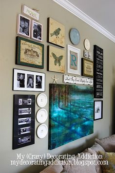 Eclectic gallery wall {art work and photography} Love it!        http://apopofpretty.com/2011/04/well-hellooo-there-25-subway-art-best/