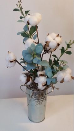 Farmhouse cotton arrangement Farmhouse decor 2nd Anniversary