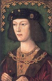 Henry VIII (1491 - 1547). Prince of Wales from 1504 to 1509, when he became king. He married six times and had three children.