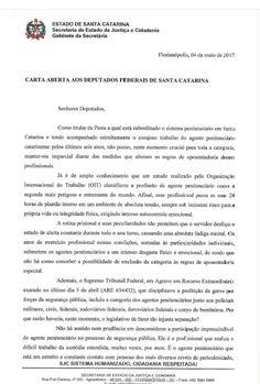 ALEXANDRE GUERREIRO: Secretária de Justiça de Santa Catarina, apoia e r...