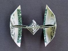TIE FIGHTER Money Origami  Star Wars by VincentOrigamiArtist