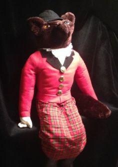 "Lovely, Large HANFORD'S INC. Fox Huntsman 22"" Lovely Plush Stuffed Animal Wolf Female Lady."