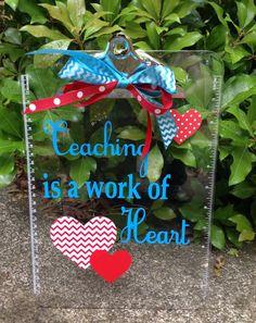 Teacher Clipboard. Find me on Facebook at Petal Pushers, Greenville, SC.