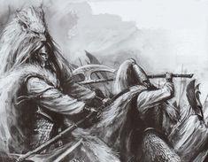 White Lions of Chrace, the elite bodyguard of the Phoenix King himself Fantasy Heroes, Fantasy Battle, Fantasy Races, Fantasy Warrior, Fantasy Rpg, Dark Fantasy Art, Fantasy Artwork, Medieval Art, Medieval Fantasy