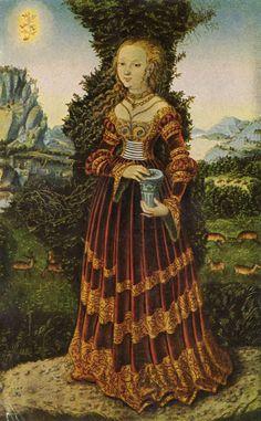 Портрет саксонской дворянки как Марии Магдалины, 1525 - Лукас Кранах Старший