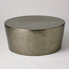 IzmIr Cocktail Table - Antique Nickel | Clayton Gray Home | hammered detail coffee table