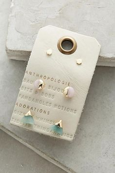 Futurist Earring Set - anthropologie.com