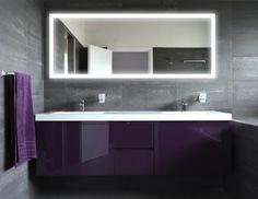 Badspiegel mit Beleuchtung New York M303L4: Design Spiegel für Badezimmer, beleuchtet mit LED-Licht, modern, groß, ohne Rahmen, rahmenlos - Kosmetik-Spiegel Toiletten-Spiegel Bad Spiegel Wand-Spiegel mit Beleuchtung