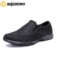 93.80$  Buy here - http://ali0qe.shopchina.info/go.php?t=32641515655 - High Quality 2016 Top Fashion AQUA TWO Casual Shoes Zapatos Hombre Full Grain Leather Shoes Men US6-10# Shoes Men's Slip on Shoe  #magazineonlinewebsite