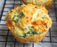 Spinach and Pesto Savoury Muffins - - Makes 9 Contrary to popular belief, I don't eat all the cakes I bake myself. Nothing makes me happier than baking a cake than sharing a cake so that's why Wayne our site mana…. Savoury Slice, Savory Scones, Savory Breakfast, Savoury Cake, Breakfast Potatoes, Savoury Dishes, Savoury Muffins Vegetarian, Healthy Muffins, Savory Snacks