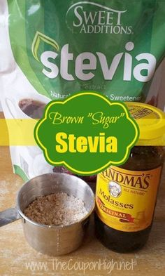 Homemade Brown Sugar Stevia Recipe - Perfect if you are trying to lower your sugar intake or have run out of brown sugar.  Also very frugal since ingredients can be found at Aldis.
