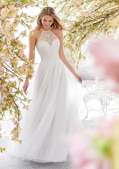 Voyage by Mori Lee 6898 Leilani Halter A-Line with a Keyhole Back Wedding Dress . Voyage by Mori Lee 6898 Leilani Halter A-Line with a Keyhole Back Wedding Dress - Kleider - Dresses Bridal Wedding Dresses, Wedding Dress Styles, Dream Wedding Dresses, Bridal Style, High Neck Wedding Dresses, Mori Lee Wedding Dress, Wedding Dress Pictures, Wedding Pics, English Wedding Dresses