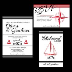 Nautical Anchor  Wedding Paper Collection DIY by HavenDesignCo, $25.00