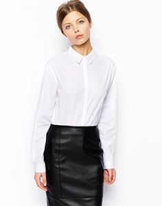 ASOS+Long+Sleeve+Shirt clean lines hidden buttons
